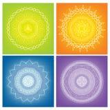 Покрашенные Mandalas Стоковые Фото
