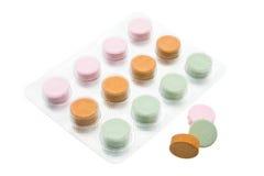 покрашенные multi витамины Стоковая Фотография RF
