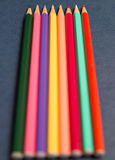 покрашенные multi карандаши Стоковое Изображение