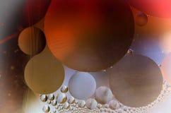 Покрашенные oildrops Стоковая Фотография RF