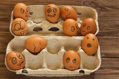Покрашенные smilies яичек Стоковое Изображение