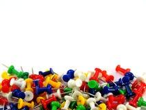 покрашенные thumbtacks Стоковое Изображение RF