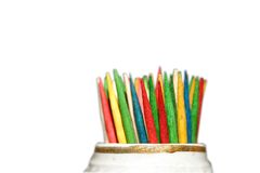 покрашенные toothpicks Стоковое Фото