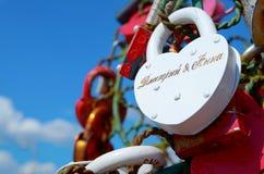 Покрашенные wedding замки Стоковое Изображение RF
