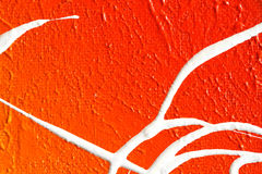 Покрашенный абстрактный (красный цвет, апельсин и цвета белизны) Стоковая Фотография RF