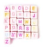покрашенный алфавит cubes английская язык Стоковое Изображение RF
