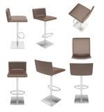 Покрашенный барный стул 8 стоковое изображение rf