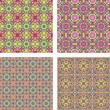 Покрашенный безшовный комплект предпосылки мозаики Стоковое фото RF