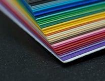 покрашенный бумажный стог Стоковая Фотография RF