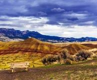 Покрашенный блок холмов - национальный монумент кроватей дня Джона ископаемый стоковое фото