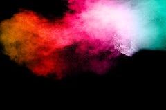 Покрашенный взрыв порошка Стоковое Фото