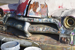 Покрашенный винтажный автомобиль Стоковое фото RF