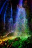 покрашенный водопад покрашенный светом Стоковое Изображение