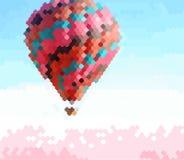 Покрашенный воздушный шар в небе иллюстрация вектора