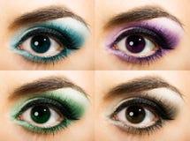 покрашенный глаз womanish Стоковая Фотография