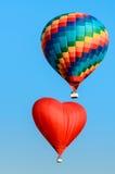 2 покрашенный горячий воздушный шар Стоковое Фото