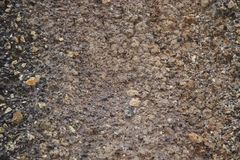 покрашенный гравий Продукция задавленного камня покинутая шахта стоковое фото rf