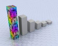покрашенный график 3d Стоковое Изображение