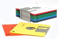 покрашенный дискет компьютера много стоковая фотография