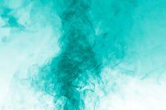 Покрашенный дым зеленого цвета покрашенный Стоковое Изображение RF