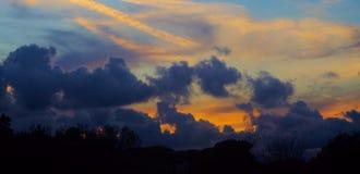 покрашенный заход солнца Стоковое Изображение RF