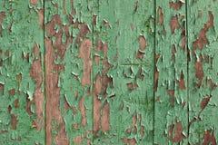 покрашенный зеленый цвет деревянным Стоковое Изображение RF