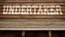 Покрашенный знак undertaker Стоковые Фото