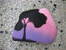 Покрашенный камень стоковое изображение