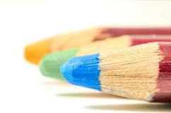 Покрашенный карандаш в линии Стоковые Фото