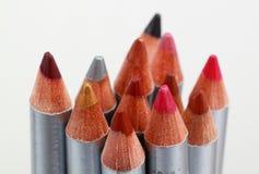 покрашенный карандаш губы вкладыша Стоковое фото RF