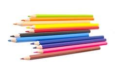 Покрашенный карандаш изолированный на белизне Стоковые Изображения RF