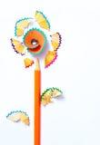 Покрашенный карандаш цветка Стоковая Фотография