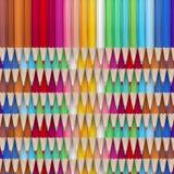 покрашенный карандаш crayons 10 eps Стоковые Изображения RF