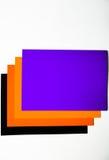 Покрашенный картон на белой предпосылке Стоковое Изображение RF