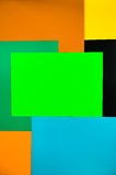 Покрашенный картон на белой предпосылке Стоковые Изображения RF