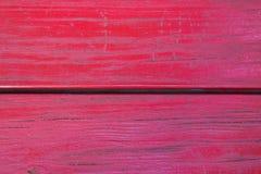 Покрашенный красный цвет Grunge деревянным стоковое изображение