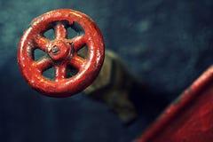 Покрашенный красным цветом макрос ручки Стоковые Изображения RF