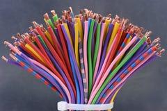 Покрашенный крупный план электрических кабелей Стоковая Фотография RF
