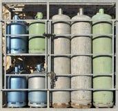 покрашенный крупным планом пропан газа цилиндров стоковые фото