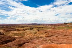 Покрашенный ландшафт национального парка пустыни Стоковое Изображение