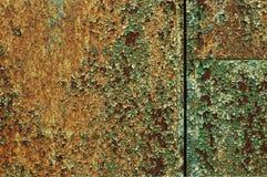 Покрашенный металл с текстурой ржавчины стоковое фото
