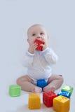 покрашенный младенец cubes multi игры Стоковое Изображение