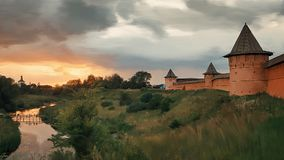 Покрашенный монастырь в Suzdal Стоковые Изображения RF