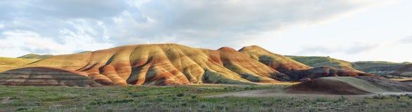 Покрашенный национальный монумент кроватей дня Джона холмов ископаемый, Орегон стоковое фото rf