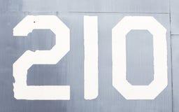 Покрашенный номер на старом самолете войны Стоковое Фото