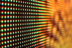 Покрашенный огнем экран СИД Стоковое фото RF