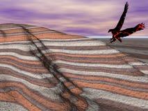 покрашенный орел пустыни Стоковое Изображение