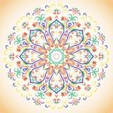 Покрашенный орнаментальный этнический цветочный узор Стоковое фото RF