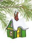 покрашенный орнамент дома деревянным стоковое изображение rf