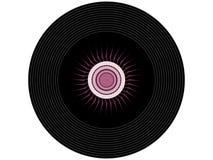 Покрашенный показатель винила музыки Стоковое фото RF